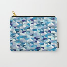 Geometrica (blue) Carry-All Pouch
