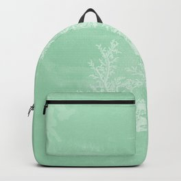 White Coral on Seafoam Backpack