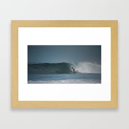 Pro Surfer in the pipe Framed Art Print