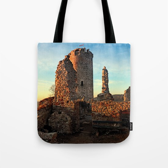 The ruins of Waxenberg castle | architectural photography Tote Bag