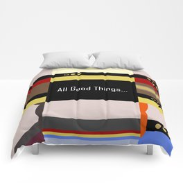 TNG - All Good Things - Minimalist Star Trek TNG The Next Generation 1701 D  startrek  Trektangles Comforters