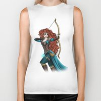 merida Biker Tanks featuring Steampunk Merida by Hungry Designs
