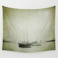 boats Wall Tapestries featuring Two boats by Victoria Herrera