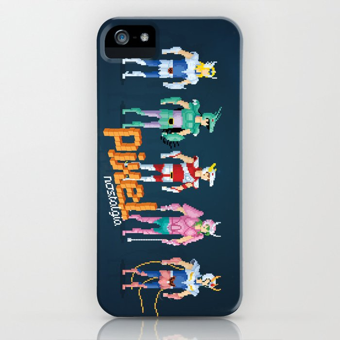 Saint Seiya - Pixel Nostalgia iPhone Case