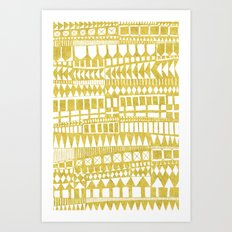 Golden Doodle abstract Art Print