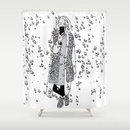 kaa on white Shower Curtain