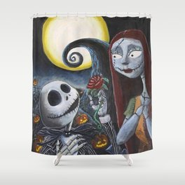 Spooky Romance Shower Curtain
