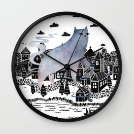 The Fog Wall Clock