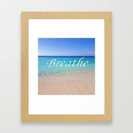 Breathe Cayman Relaxing Beach Waves Framed Art Print