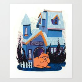 Mr. Winston is staying home today. Art Print