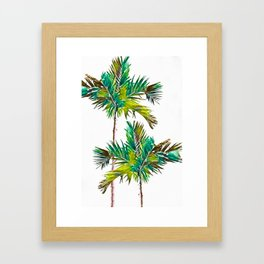 Fishtail Palm Trees Framed Art Print