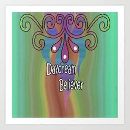 Daydream Believer Retro Art Print
