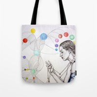 destiny Tote Bags featuring Destiny by Heaven7