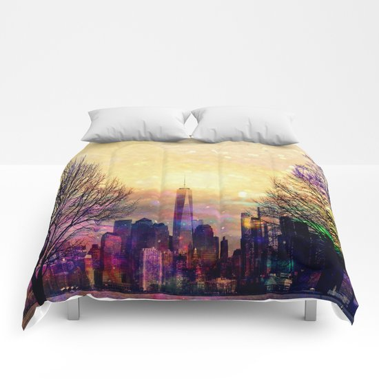 Space Manhattan Comforters