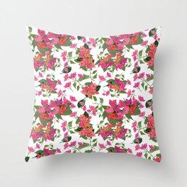 April blooms(Bougainvillea) Throw Pillow