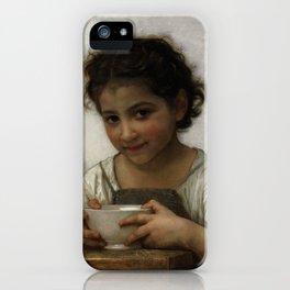 """William-Adolphe Bouguereau """"La soupe au lait"""" iPhone Case"""