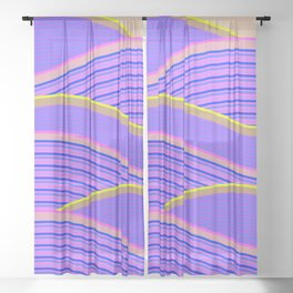 Happy Times - Lavender Hills Sheer Curtain