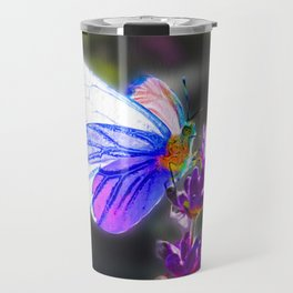 Butterfly on the Lavender Travel Mug