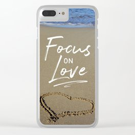 Focus on Love 3 Clear iPhone Case