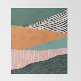 Modern irregular Stripes 02 Throw Blanket