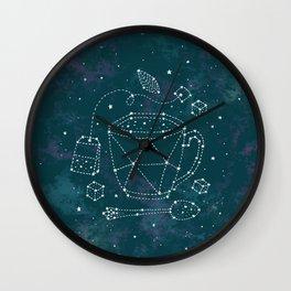 Tea Time Constellation Wall Clock