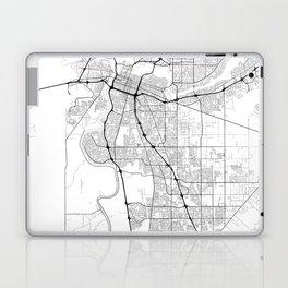 Minimal City Maps - Map Of Sacramento, California, United States Laptop & iPad Skin