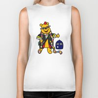 pooh Biker Tanks featuring Doctor Pooh by Murphis the Scurpix