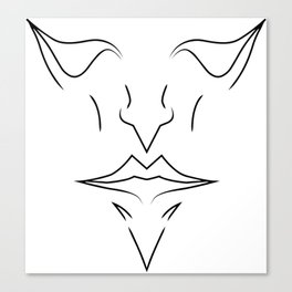 one face Canvas Print
