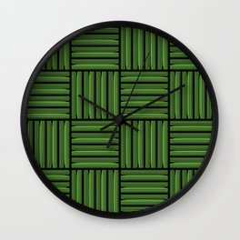 Green metallic pattern Wall Clock