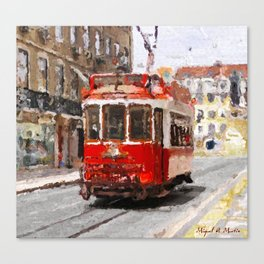 Old tramways IV Canvas Print