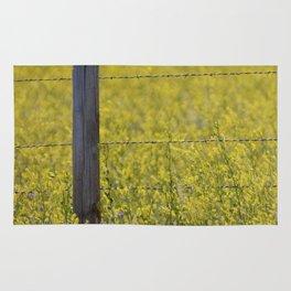 Meadowlark Singing on top of a Fencepost Rug