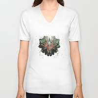 camouflage V-neck T-shirts featuring CAMOUFLAGE by GEEKY CREATOR