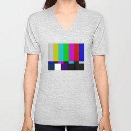 SMPTE Color Bars (as seen on TV) Unisex V-Neck