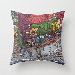Jills Street - New York Throw Pillow