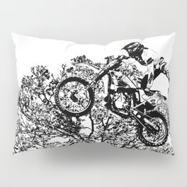 Stealing the Air - Freestyle Motocross Rider Pillow Sham