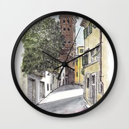 Guinigi Tower at Lucca, Italy Wall Clock