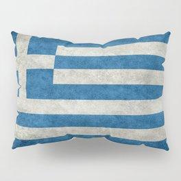 Greek Flag - vintage retro style Pillow Sham