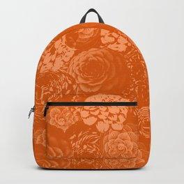 Moody Florals in Orange Backpack