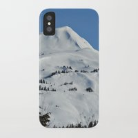 skiing iPhone & iPod Cases featuring Back-Country Skiing  - VI by Alaskan Momma Bear
