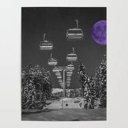 Chair Lift to the Purple Moon Poster