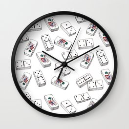 Dominos de Puerto Rico Wall Clock