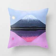 Two Fuji - Painting Throw Pillow