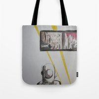 clockwork Tote Bags featuring Clockwork by MassiveTrain
