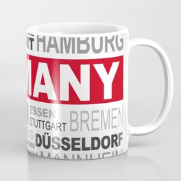 Germany top and most famous city names word cloud illustration Coffee Mug