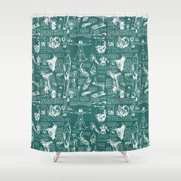 Da Vinci's Anatomy Sketchbook // Genoa Green Shower Curtain