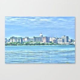 Madison Skyline Canvas Print
