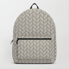 Minimalist Leaves in Gray Backpack