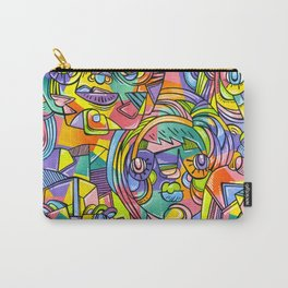 Colourful Faces Carry-All Pouch