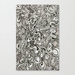 Tangling lines Canvas Print