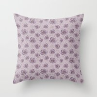magnolia Throw Pillows featuring Magnolia by Vickn